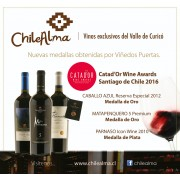 Medallas Catador Winw Awards Santiago de Chile 2016